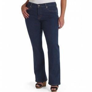 Levi's 512 Perfectly Shaping Boot Cut Dark Jeans